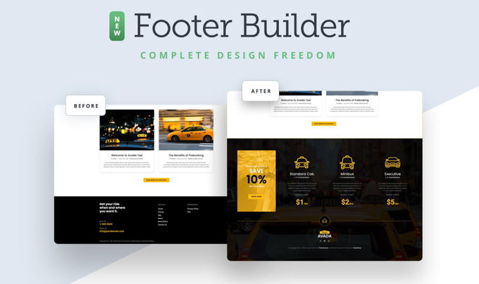 Avada Theme review footers