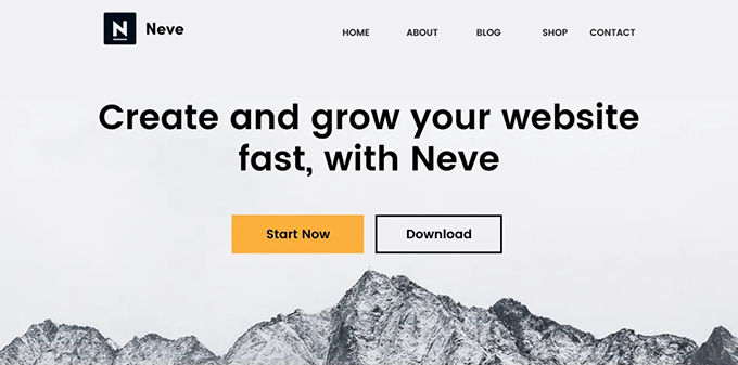 Neve beste gratis Wordpress theme [2021]