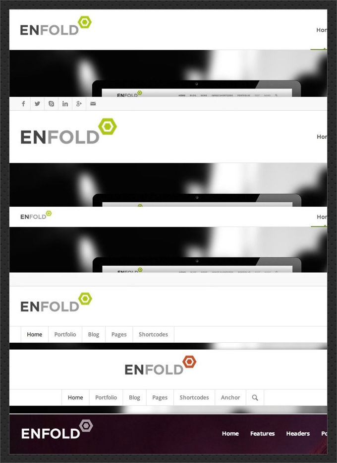 Enfold theme review header styles