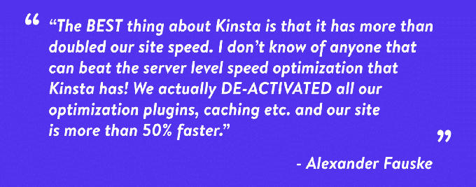 Kinsta hosting review Alexander Fauske