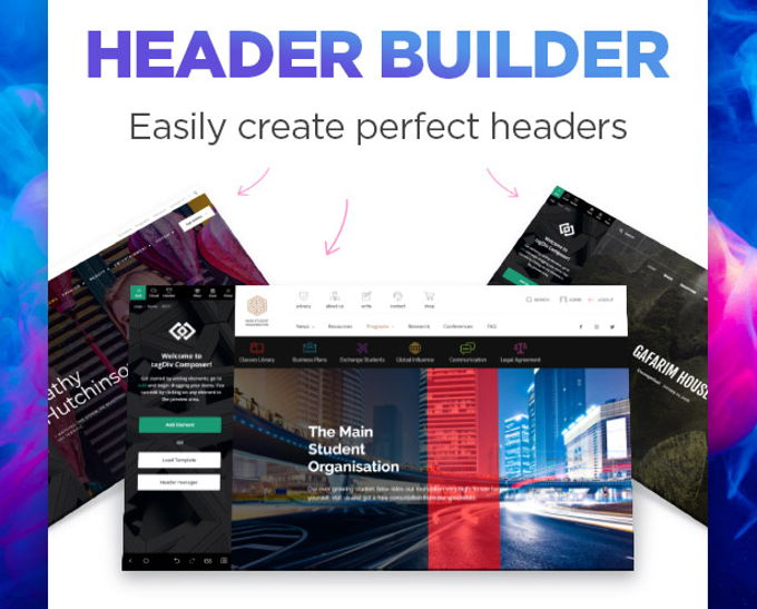 Newspaper X theme review headerbuilder