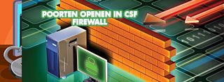 Poorten openen in CSF Firewall
