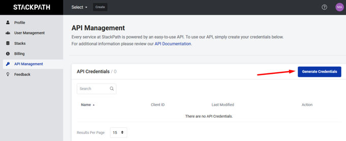 Stackpath API Management