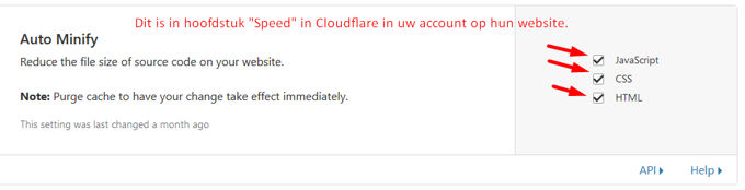 Cloudflare minifying