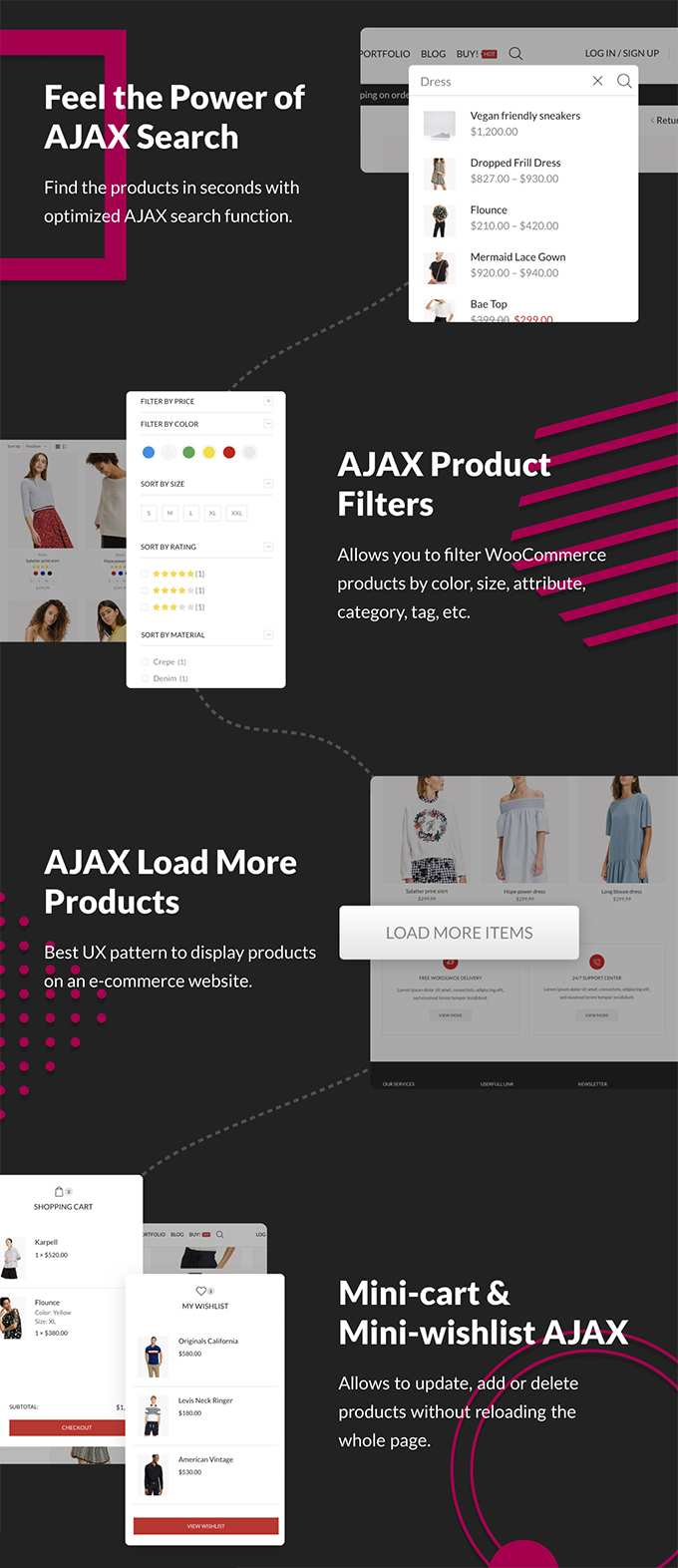 X-Store Theme review Woocommerce ajax features